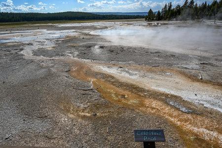 Yellowstone NP, WY, USA - August 7, 2020: The Celestine Pool