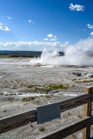 Yellowstone NP, WY, USA - August 7, 2020: The Jelly Geyser