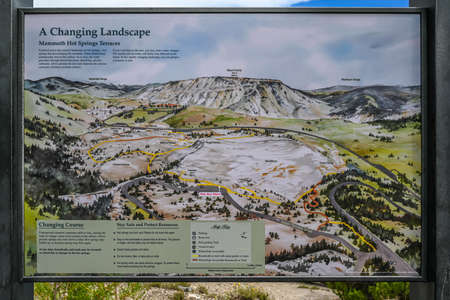 Yellowstone NP, WY, USA - August 8, 2020: A Changing Landscape