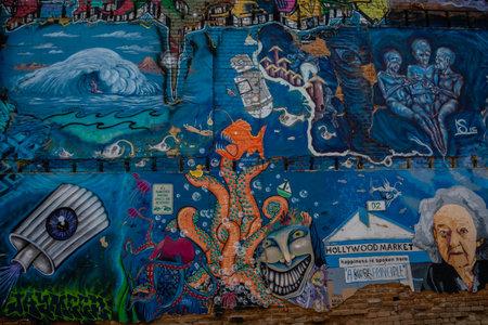 Boise, ID, USA - July 25, 2021: The Freak Alley Gallery