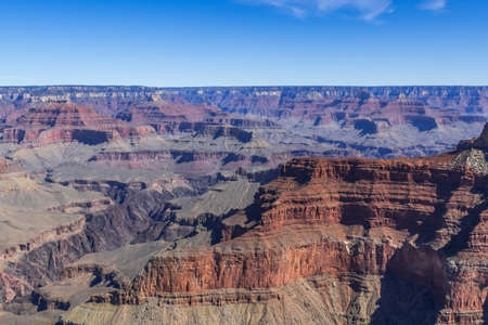 An overlooking landscape view of Grand Canyon National Park, Arizona Stock Photo