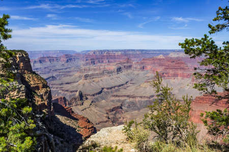 A gorgeous view of the landscape in Grand Canyon National Park, Arizona Stock Photo