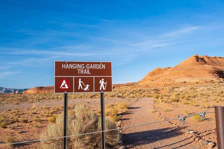 Glen Canyon NR, AZ, USA - Sept 28, 2020: The Hanging Garden Trail