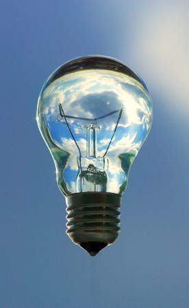 Bulb with water on a background of the cloudy sky Stock Photo - 2637734