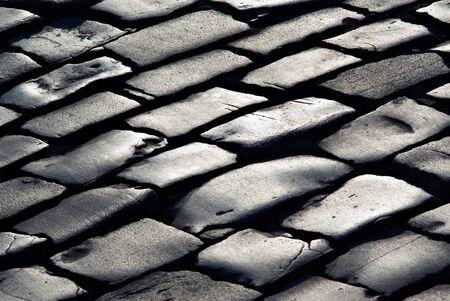 texture from lines of stone sett Standard-Bild