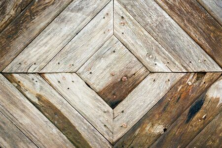 pattern from ancient planking at shape of rhombus