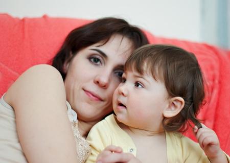mother and her little daughter Standard-Bild