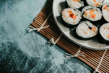 Delicious homemade sushi for everyone to enjoy Archivio Fotografico