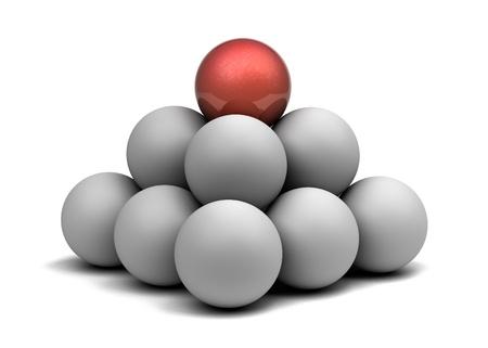 pyramid of balls  Stock Photo - 10374200