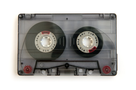 cassette: Audio casette isolated on a white background.