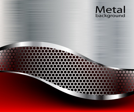 metal net: Antecedentes ilustraci�n met�lico. Vectores