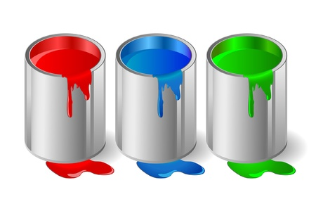 spilled paint: Illustration of metallic capacity with a paint.