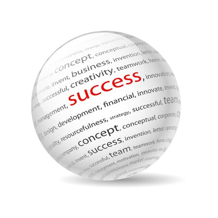 Illustration  ball with inscription success, on a white background. Stock Vector - 10420412