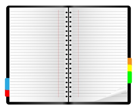 notebook paper background: Paper notebook on a white background. Illustration