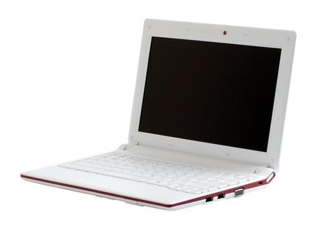 White portable notebook, isolated on white background. Stock Photo - 10485343