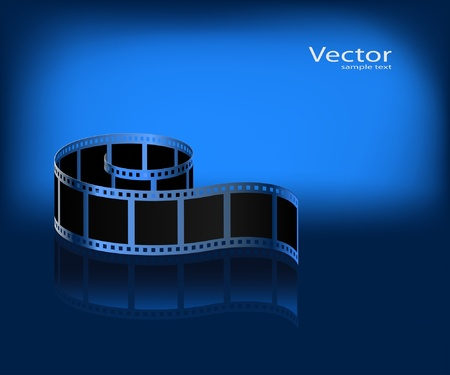 Film on a dark blue background. Vector. Vector