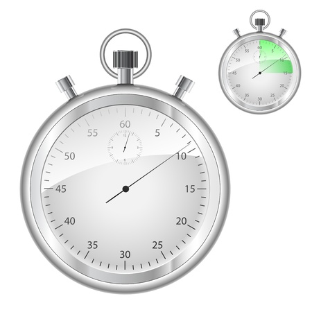 metering: Stopwatch isolated on white background.