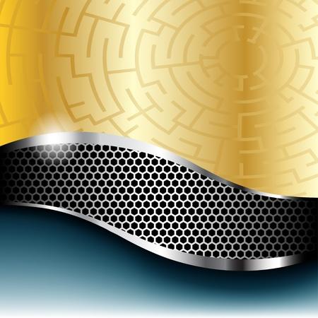 Illustration der abstrakten Hintergrund mit einem metallischen Element.
