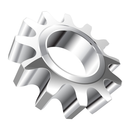 steel factory: Illustration of gear on a white background.  Illustration