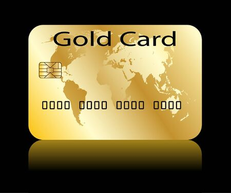 bankcard: Illustration of credit card on a white background.
