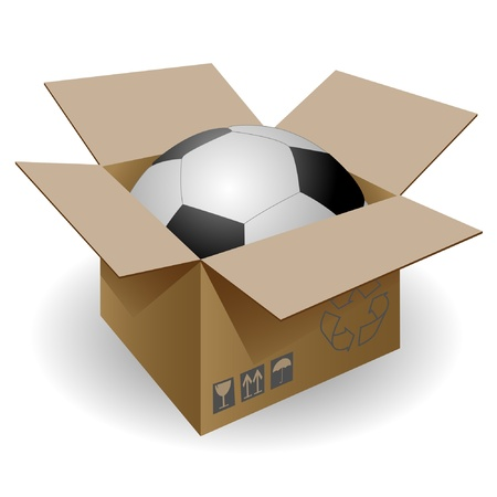 storage box: Soccer ball in the mail box.