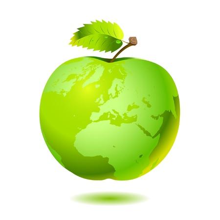 Apple Earth.  Vector