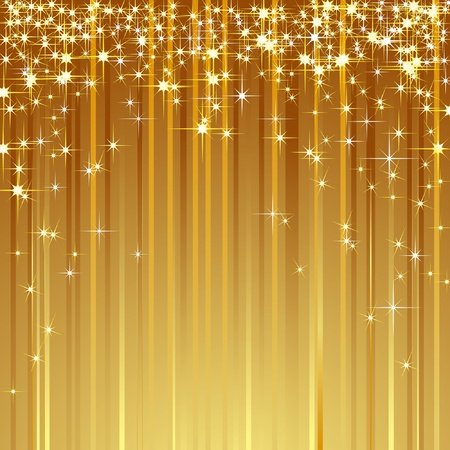 金: 流れ星の華麗な背景。ベクトル。  イラスト・ベクター素材