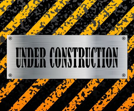 Under construction sign. Illustration of the character. Vector.  Stock Vector - 10998853