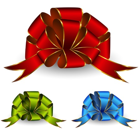 Collection of celebratory bows Иллюстрация