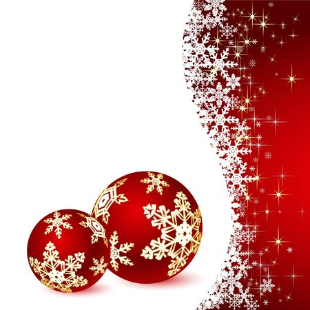 Christmas illustration on white background. Vector. Stock Vector - 11124604