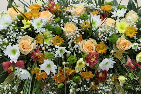 Image bouquet of flowers from wild flowers and roses. photo
