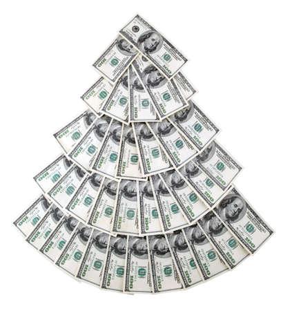 letra de cambio: Imagen de d�lares estadounidenses en forma de �rboles. Foto de archivo