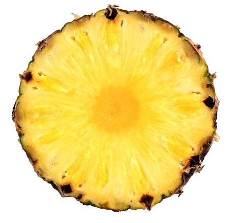 Fresh pineapple, isolated on  white background. photo