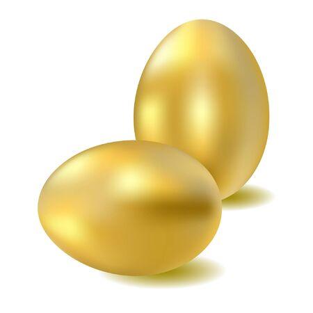 two gold eggs. Vector.  Vector