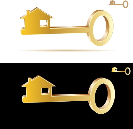 gold house: key. Vector.