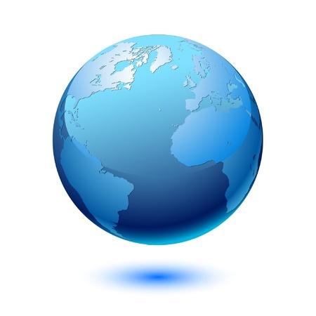 meridiano: Tierra. Vector.