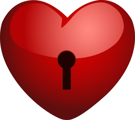 lockout: Heart on a lock. Vector. Illustration