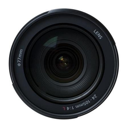 Camera lens isolated on white background.  photo