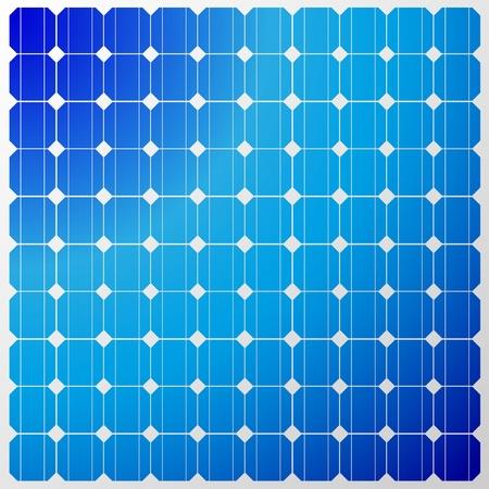 発電機: 空の反射と太陽電池パネルのイラスト。ベクトル。
