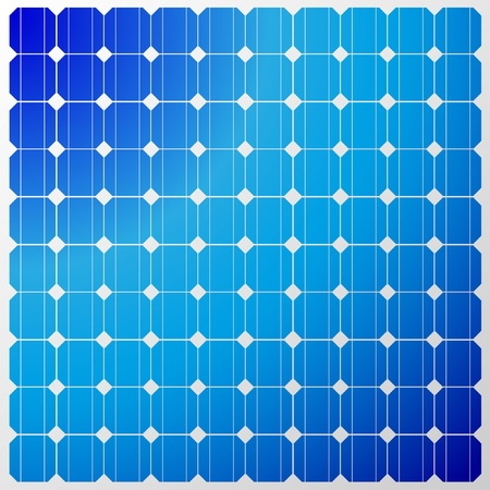 Illustration of a solar panel with a reflection of the sky. Vector. Vector