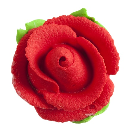 jelly head: Sweet red rose flower isolated on white background.