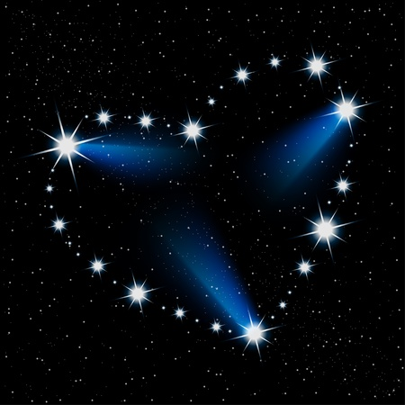 Abstract illustration of the heart of the stars in the cosmos. Vector. Stock Vector - 12326697
