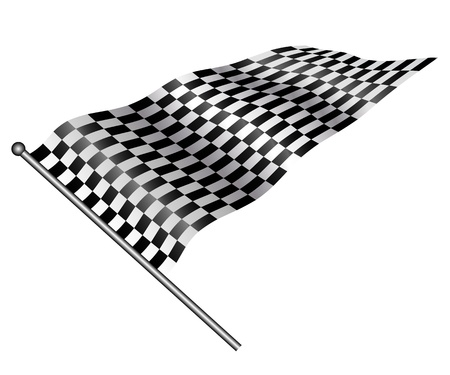 Checkered flag on white background. Vector. Stock Vector - 12939953