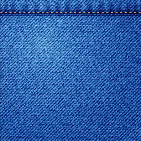 Illustration of jeans fabric texture  Vector