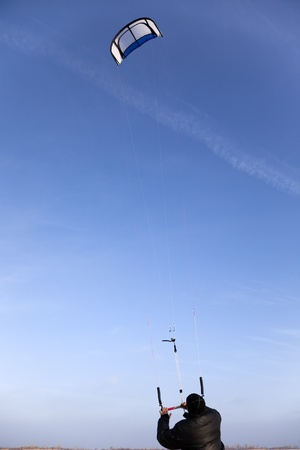 Balloon kite in the blue clear sky. photo