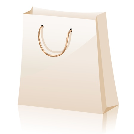 Shopping bags isolated on white background Stock Vector - 13889432