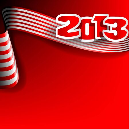 Christmas illustration on red background   Vector
