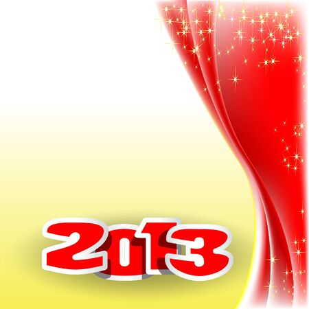 Christmas illustration on yellow background   Vector