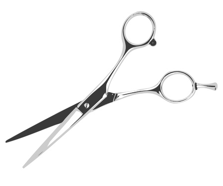 Illustration barber scissors isolated on white background.