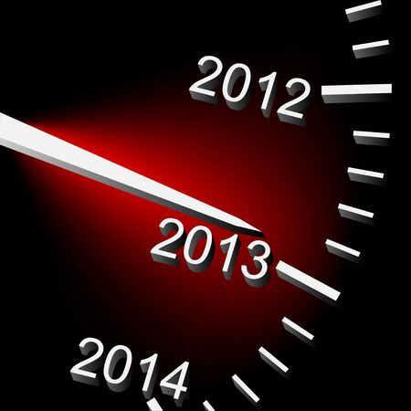 Illustration of speedometer with the date of year  Vector Stock Vector - 16219136